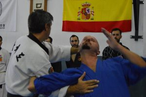 Luxación de hombro en hapkido