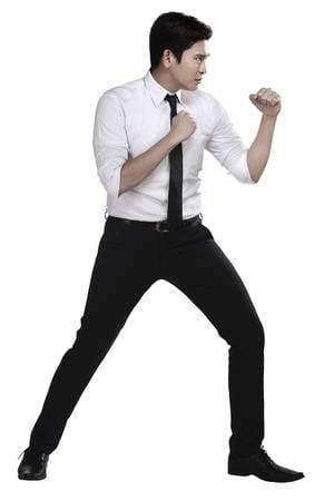 good fighting stance